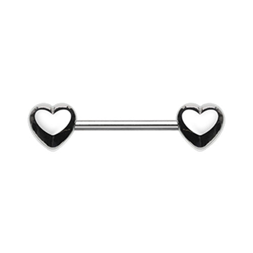 Nipple - Surgical Steel Hearts
