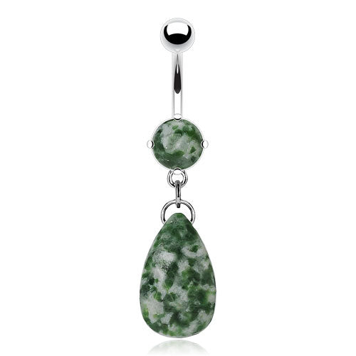 Belly Ring - H Dangly Gemstone