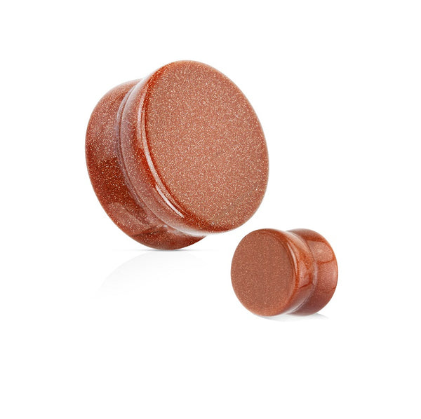 Organics - Natural Stone Plugs - Goldstone