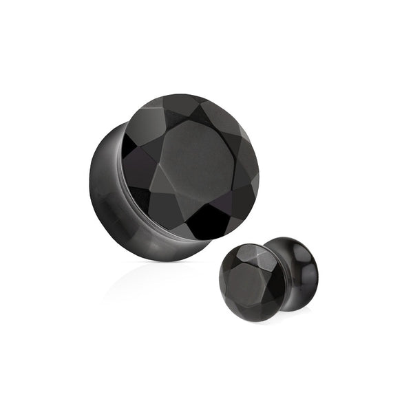 Organics - Faceted Stone - Black Agate