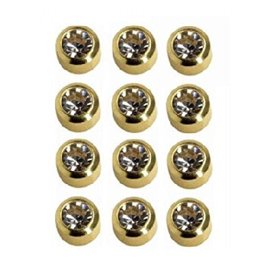 Earrings - Pre-Sterilized Gold Plated Piercing Studs - Jewelled
