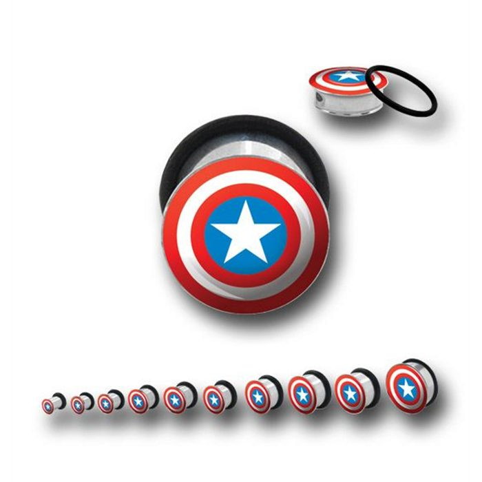 Tunnels / Plugs - Captain America Single Flares