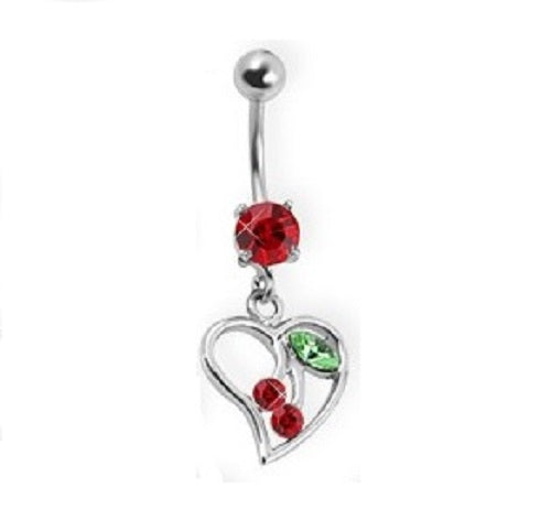 Belly Ring - H Cherry