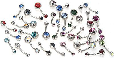 Belly Ring - Double Jewel (Wholesale)