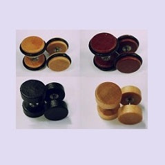 Faux Plugs - Wood Round