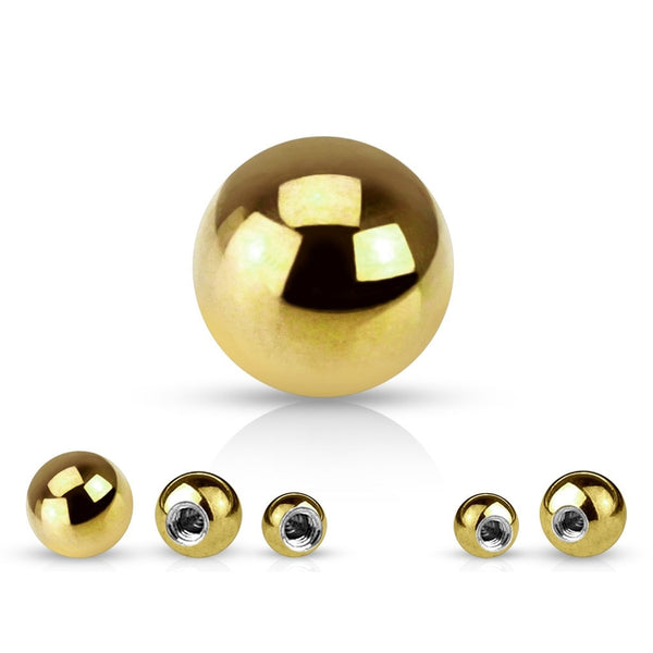 Extra Balls - Gold Plated 16G