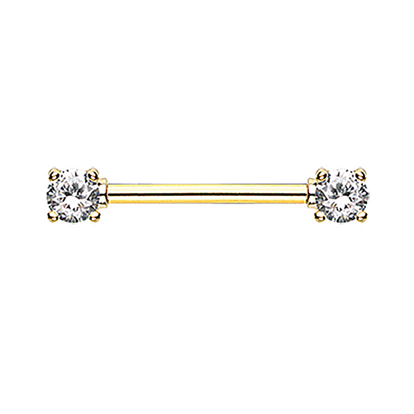 Nipple - Gold Plated CZ
