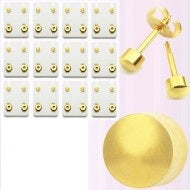 Earrings - Pre-Sterilized Gold Plated Piercing Studs - Plain