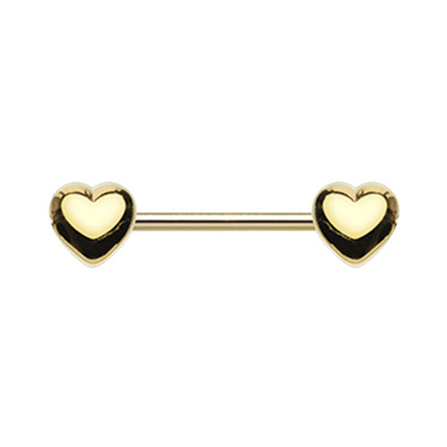 Nipple - Gold Plated Hearts