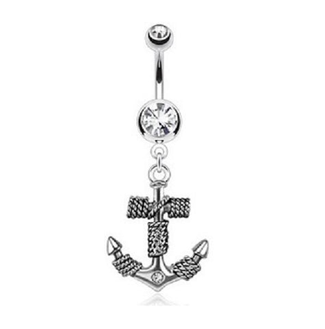 Belly Ring - H Anchor