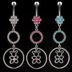 Belly Ring - H Bear Circle
