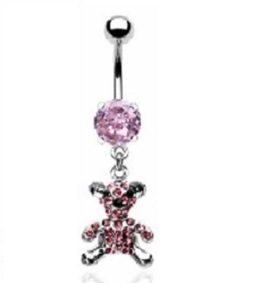 Belly Ring - H Teddy Bear