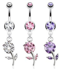 Belly Ring  - 10 Assorted Dangly