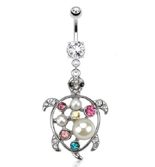 Belly Ring - H Turtle