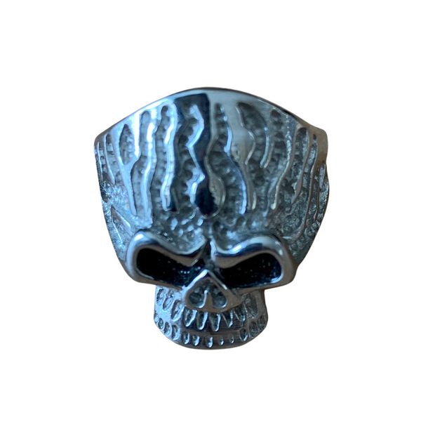 Rings - Skull With Hammered Texture