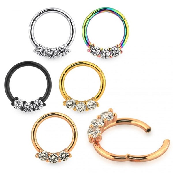 Segment Ring - Hinged Jewelled