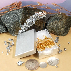 Silver Foil Boxes - Large Earring
