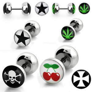 Faux Plugs - Surgical Steel Logo