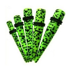 Stretchers - Green Leopard Print