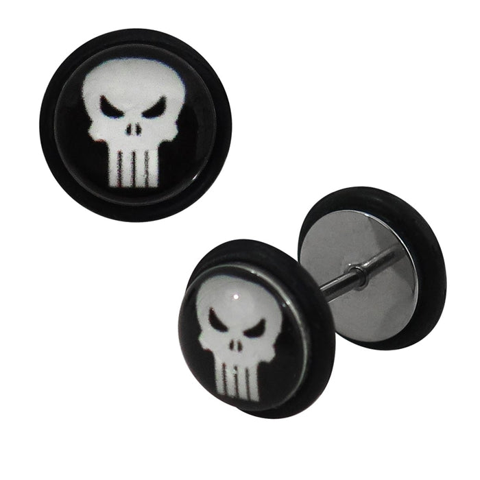 Faux Plugs - Punisher