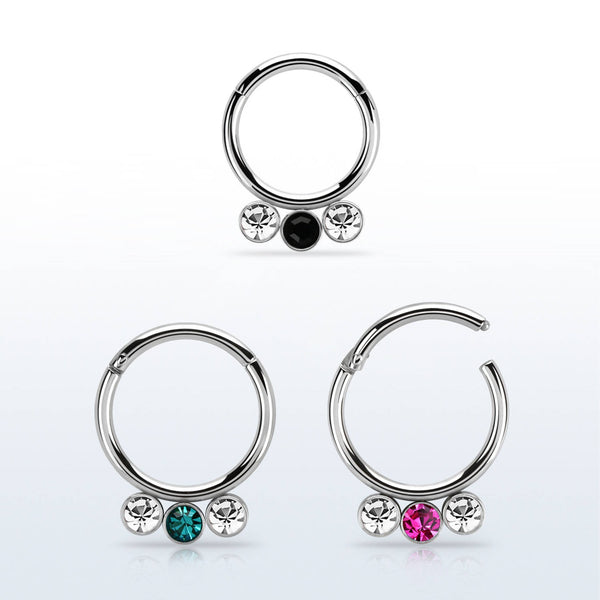 Segment Ring - Hinged 3 Gems
