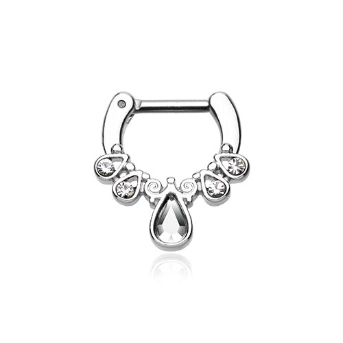 Septum Clicker - Teardrop CZ