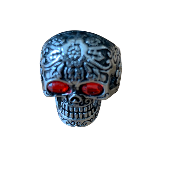 Rings - Skull With 2 Red Eyes