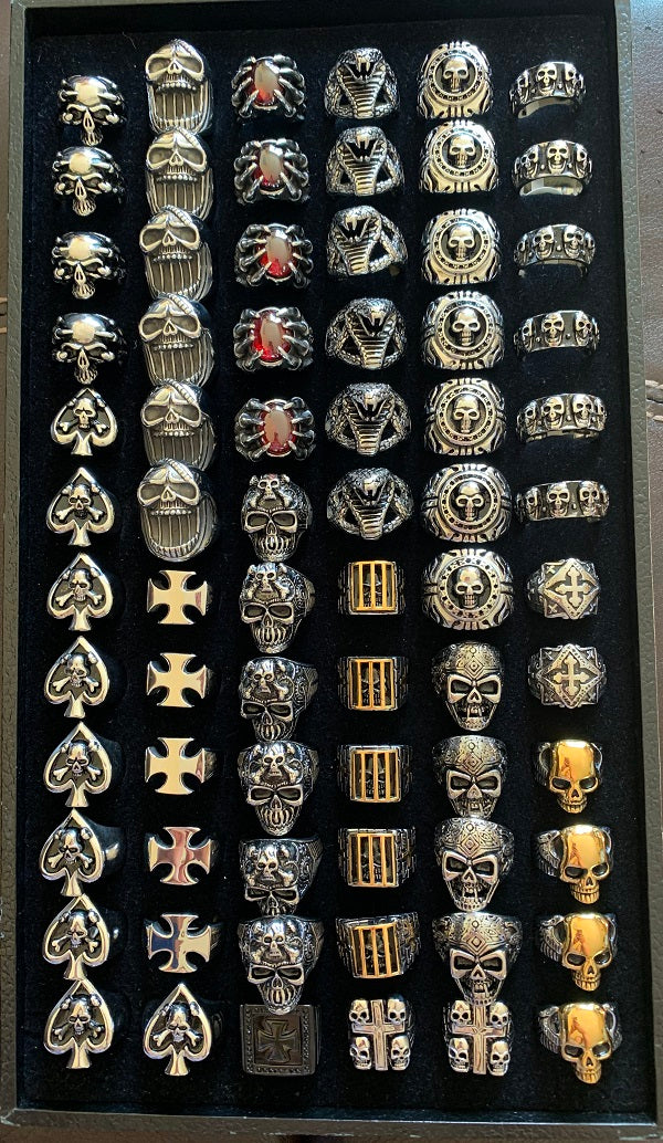 Rings - Biker Rings 72 PIECES