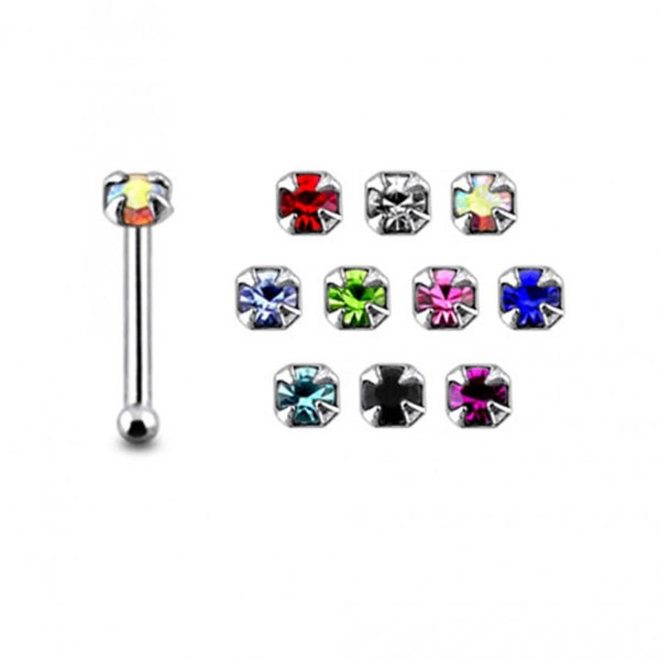 Nose Studs - Box of 20 Prong Set Gems NOSE BONES