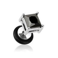 Faux Plugs - Square Gem