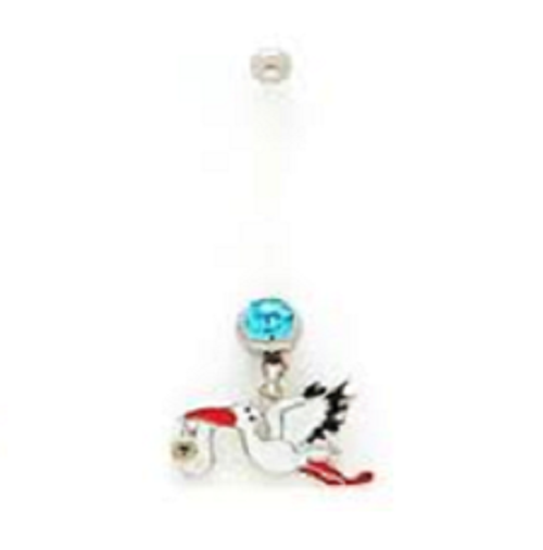 Belly Ring - Pregnancy Stork