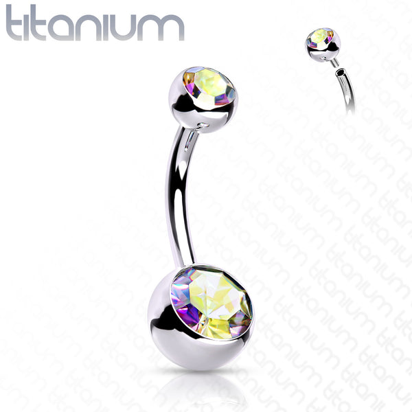 Belly Ring - Internally Threaded Titanium