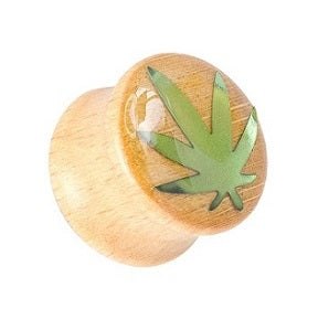 Organics - Wood Plugs With Leaf