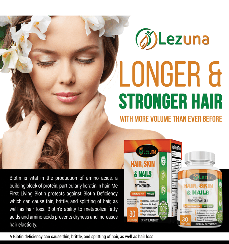 Hair, Skin & Nails Vitamin, Clinically Studied Ingredients - 30 ...