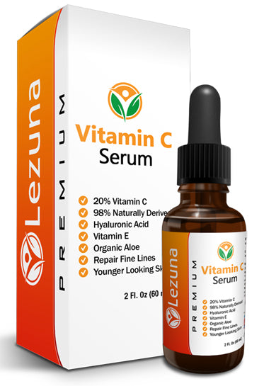 Vitamin C Face Serum, Hyaluronic Acid, 20% Vitamin C & More - 2 OZ