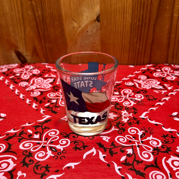 Texas Flag Shot Glass