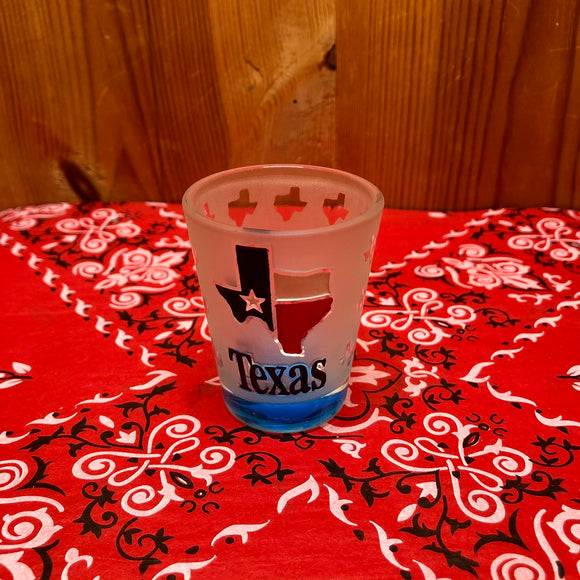 Texas Etched Shot Glass