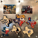 Texas Collage Dual-Level Magnet