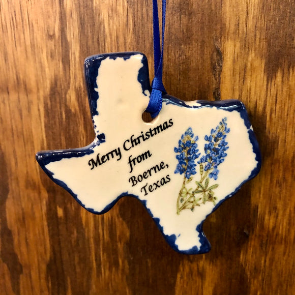 Merry Christmas from Boerne, TX Ornament