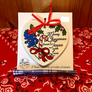 Merry Christmas From Texas With Love Ornament