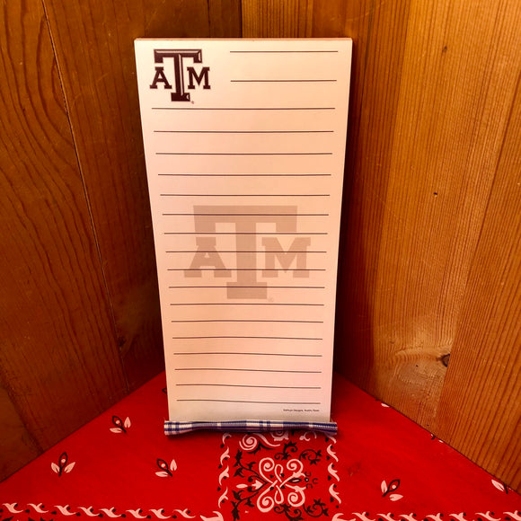 Texas A&M Notepad