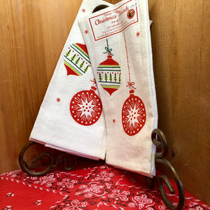 Christmas Ornaments Dish Towel (Set of 2)