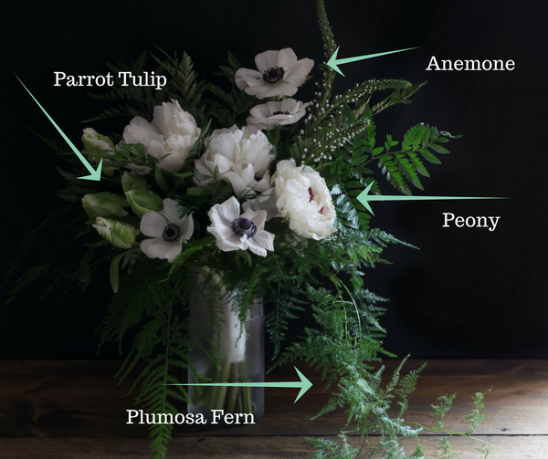 BOUQUET RECIPE | Peonies, tulips, anemones