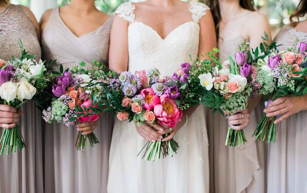 Wedding Flowers | Bouquets | Bride and Bridesmaids