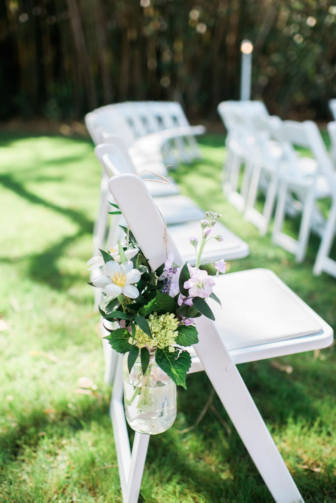 Wedding Flowers | Chairs