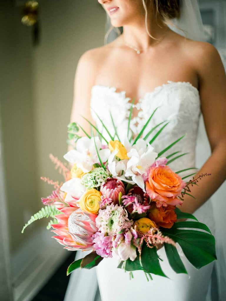 Wedding Flowers | Tropical Bridal Bouquet | Naples Beach Hotel & Golf Club
