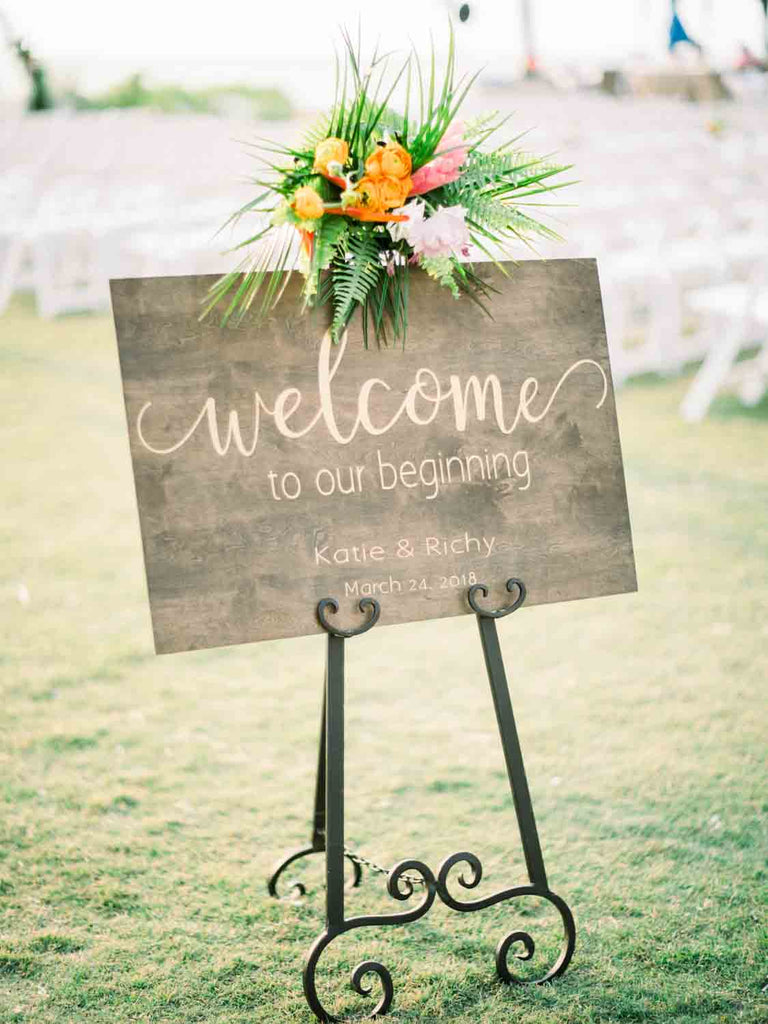 Wedding Flowers | Sign