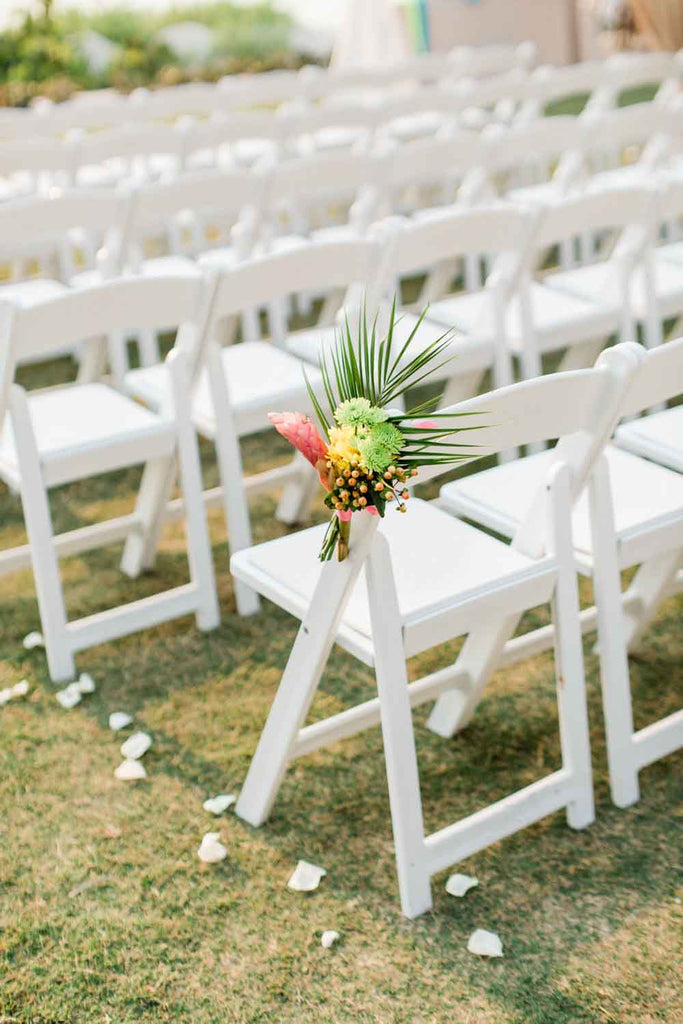 Wedding Flowers | Tropical | Chairs