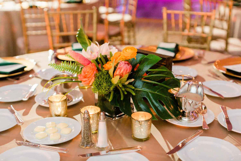 wedding centerpieces, wedding flowers, tropical flowers