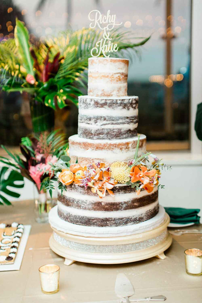 Wedding Flowers | Naked Cake | Tropical Flowers